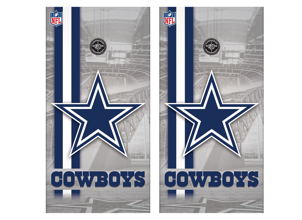 View ProductDallas Cowboys Cornhole Game Decal Set