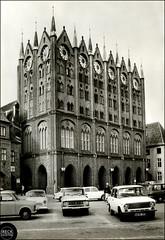 Stralsund in Vorpommern Pomorze Przednie Rathaus ratusz 1984