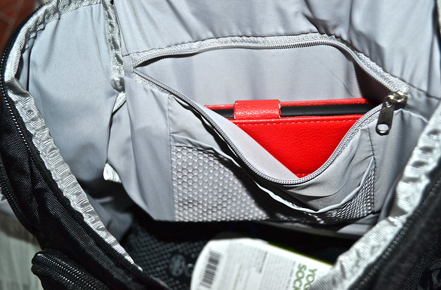 compartments inside anti theft backpack