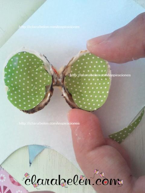 Como hacer mariposas con conchas o almejas