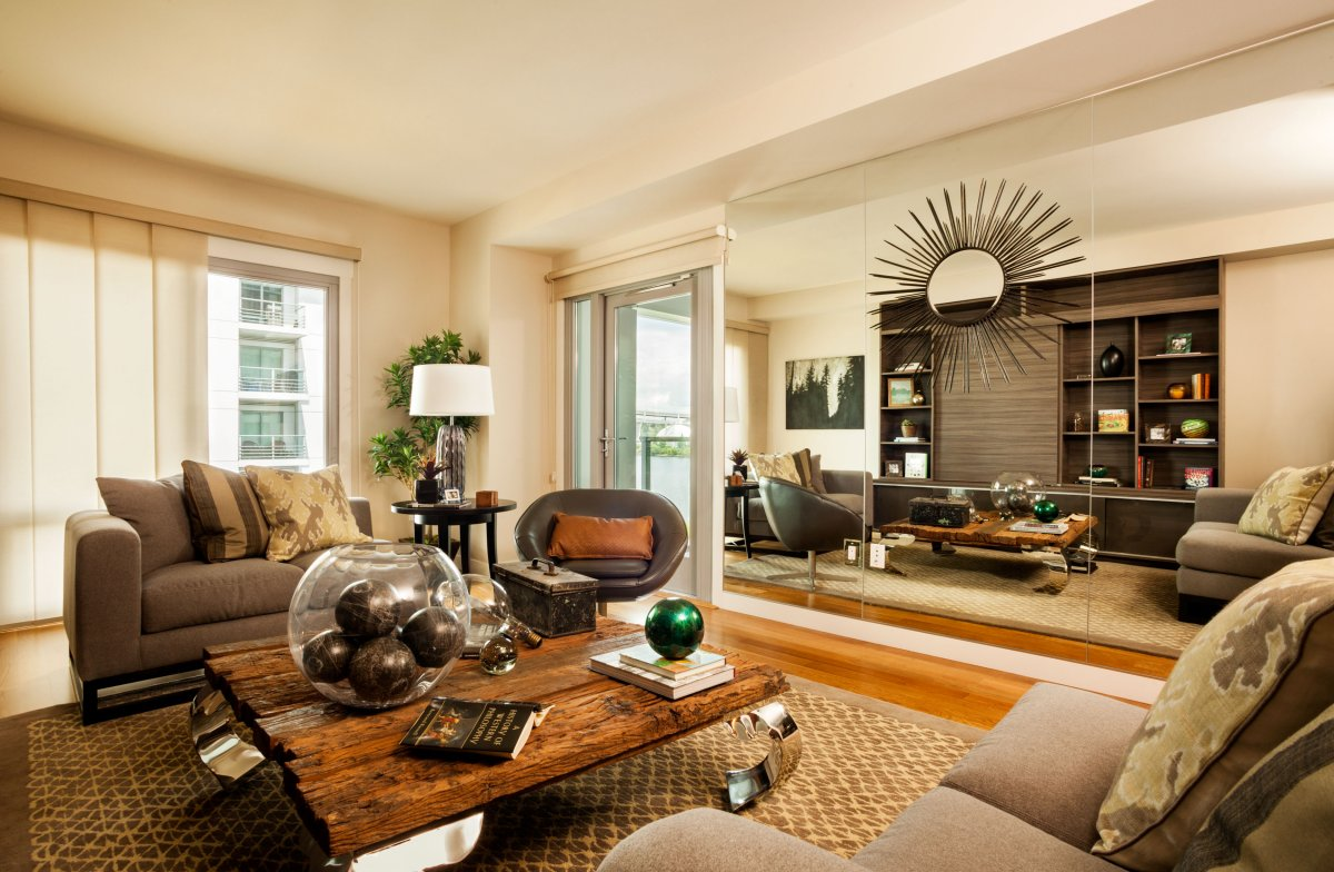 masculine-living-room-design-with-rustic-cofee-table-and-grey-sofa-furniture-ideas