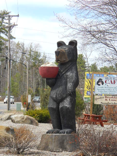 caffeinated bear statue