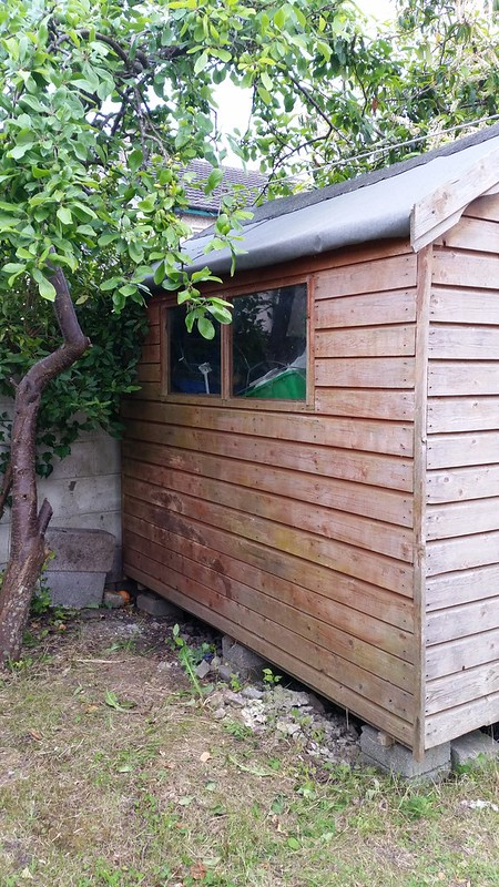 Repainting the shed... diy...Sanded down