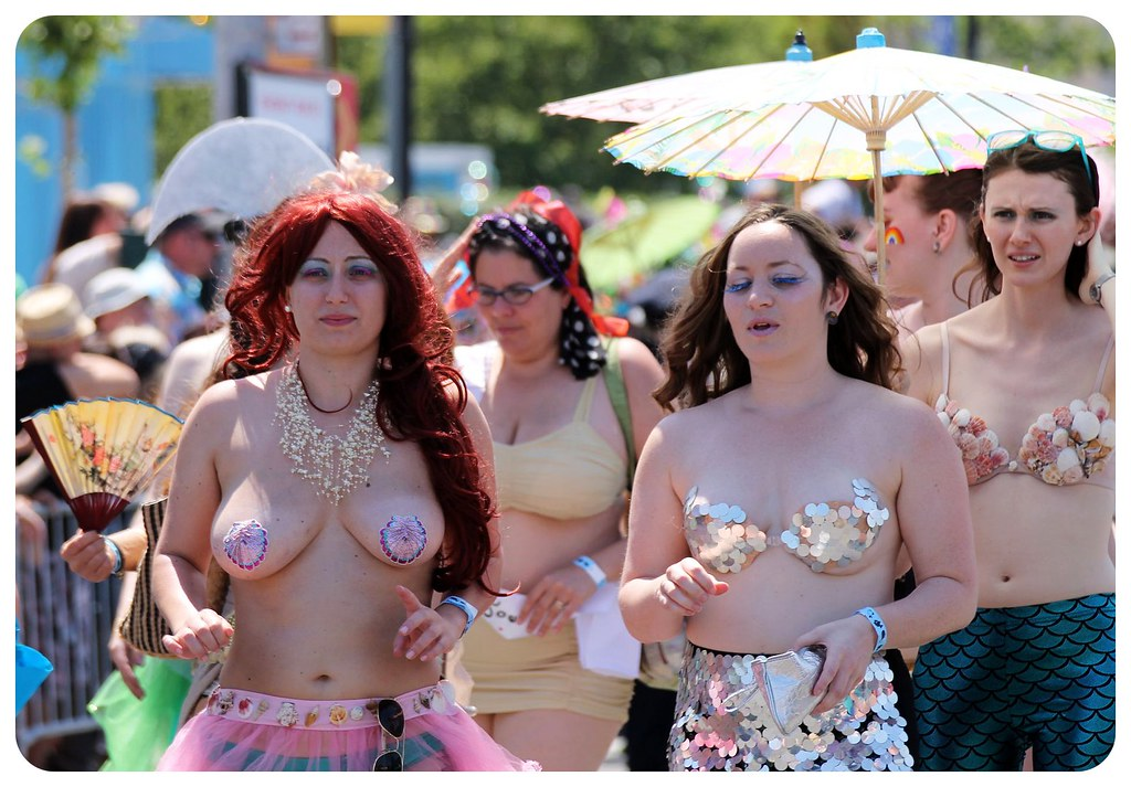 coney island mermaid parade 2014 topless mermaids1