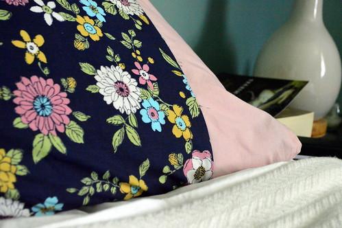 Pretty flowered pillowcase