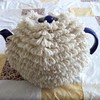 Sheepy tea cosy #teacosy #tea #sheep #knit #knitting #yarn #wool #handmade
