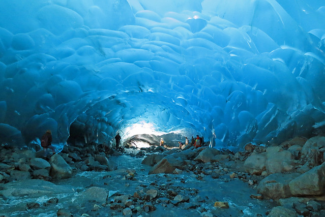 Mendenhall Glacier ice cave, Juneau, Alaska