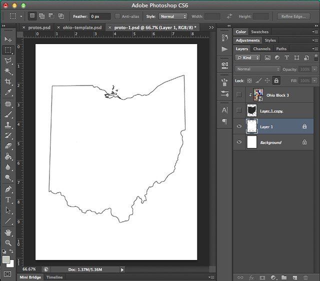 1 image outline