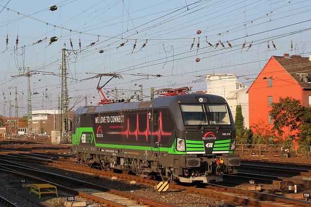 ELL/TXL 193 274 als Tfzf nach Köln-Eifeltor in Münster Hbf