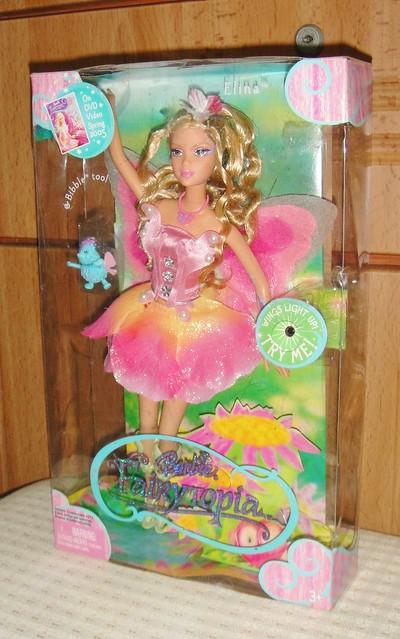 2005 Barbie Fairytopia Elina Doll (Pink Box Restyled) (1)
