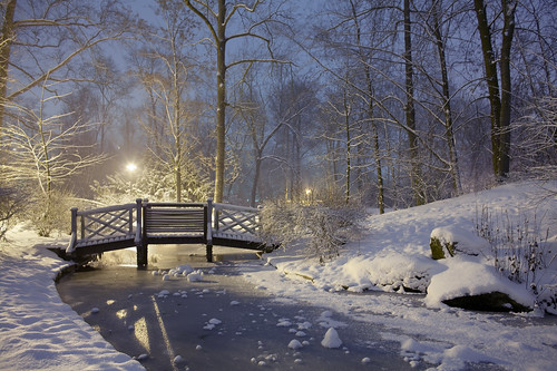 Schlosspark verschneit