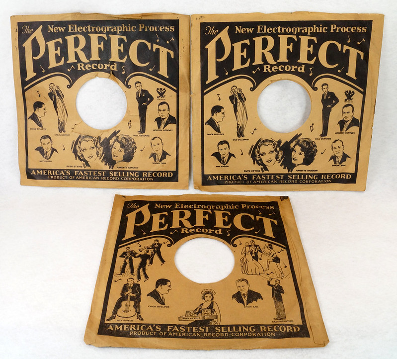 RD14635 3 Vintage PERFECT 78 RPM Album Sleeves American Record Corporation DSC06736