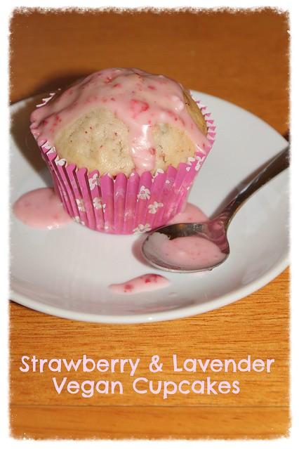 Strawberry & Lavender Cupcakes