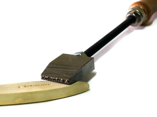 Punzón o sello de termograbado para luthier