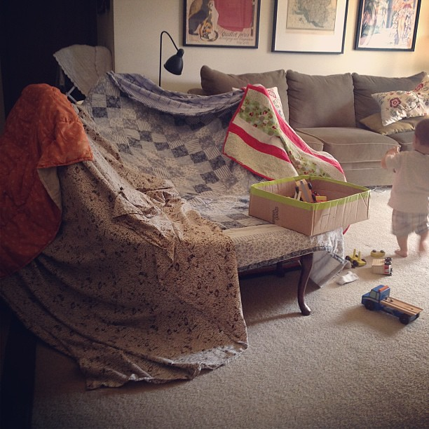 It's a fort-making kinda day.