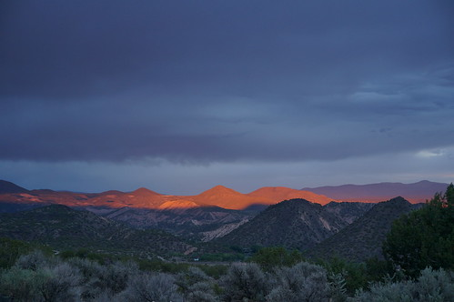 sunset night landscapes desert cloudy purplemountainmajesties embudovalley