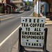Emergency personnel drink free