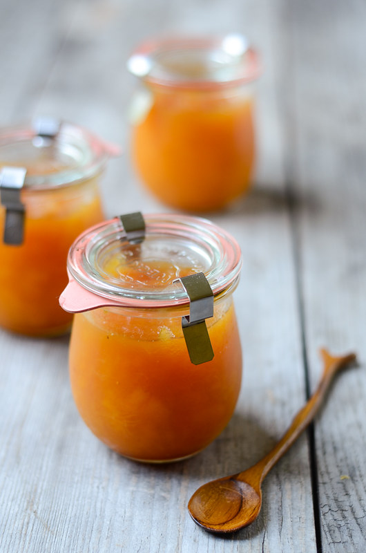 summer in a jar homemade peach jam buttered side up