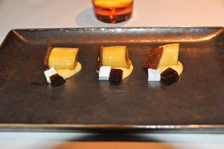 Usuzukuri de plátano con crema de lima