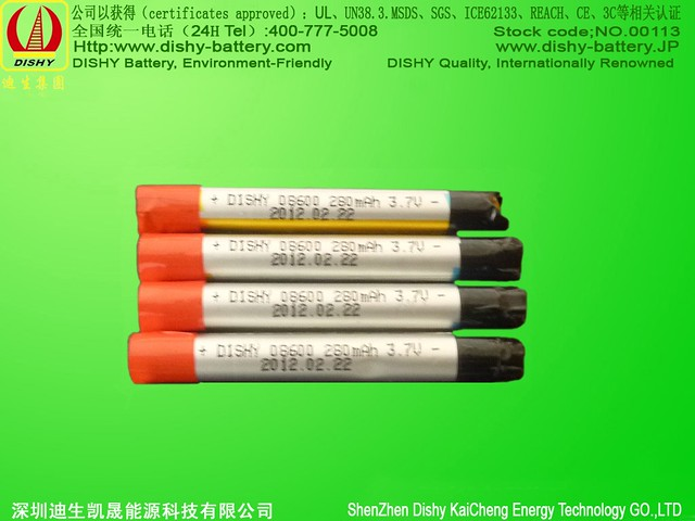 cylindrical Li-ion 280mAh 08600 electronic cigarette battery