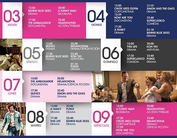 IV Festival de Cine Escandinavo // del 3 al 9 de octubre / Programación