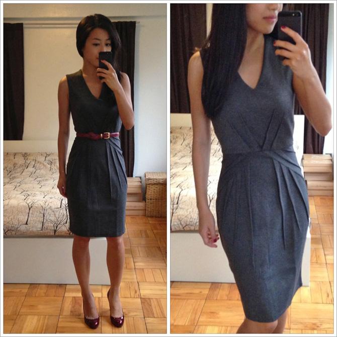 h and m grey dress