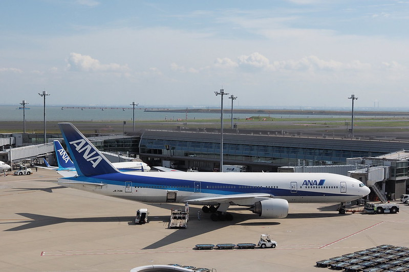ANA jet airplanes at Haneda airport