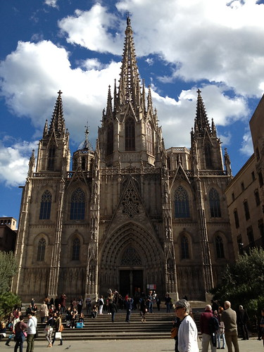 The Cathedral in Barri Gòtic. From Foodie Finds: Exploring Barcelona, One Bite at a Time