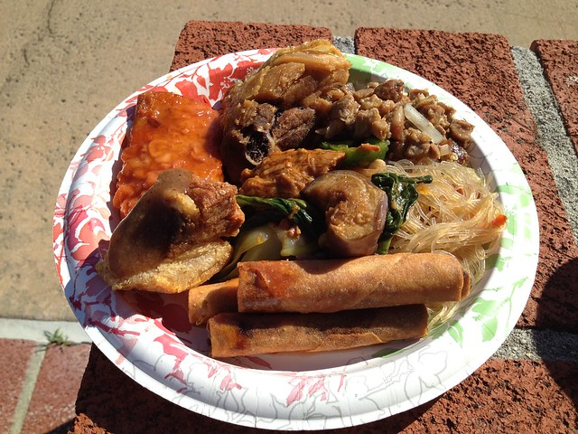 Typical Filipino party food