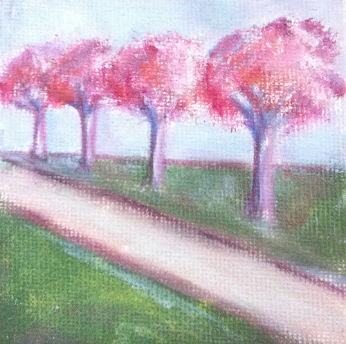Row of Trees (Mini-Painting as of October 20, 2013) by randubnick