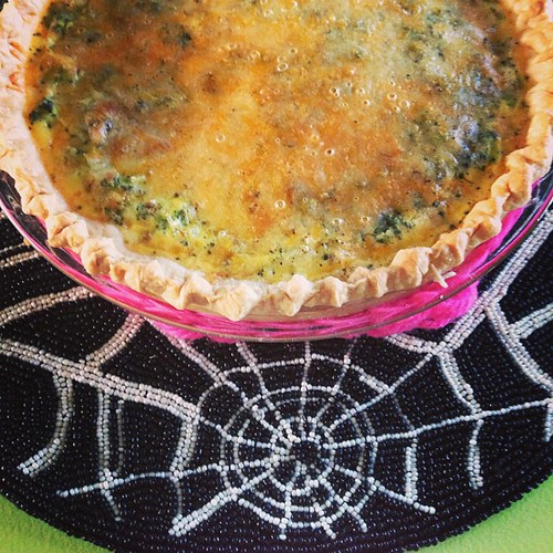 Post Halloween Quiche - fresh from the Wicked Witch of the West Coast's oven! by Pinks & Needles (used to be Gigi & Big Red)