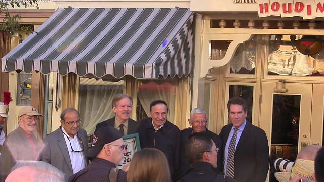 Tony Baxter Main Street USA window ceremony at Disneyland