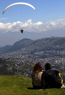 Paragliding over Quito