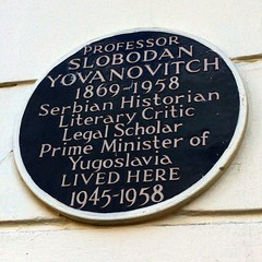 Photo of Slobodan Yovanovitch brown plaque