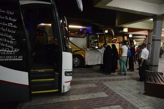 Autobuses en la Estación de Shiraz