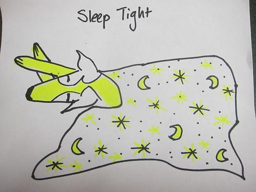 Sleepy dog doodle