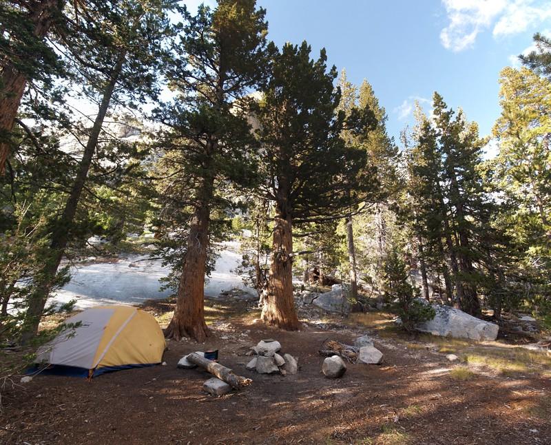 Our campsite in Glen Aulin