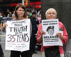 Protesting for Chelsea Manning
