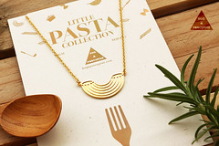 (NEW) Pasta Collection: Macaroni  Necklace by Hug…