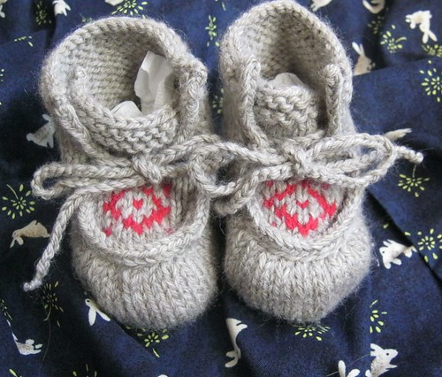 Knitted Baby Moccasins