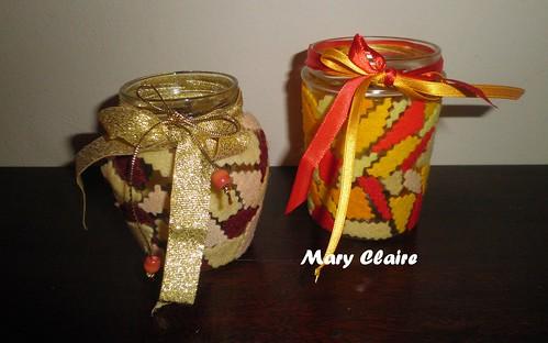 lanterne con ritagli pannolenci