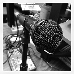 Finally getting to test my new Behringer Ultravoice XM 1800 microphone.