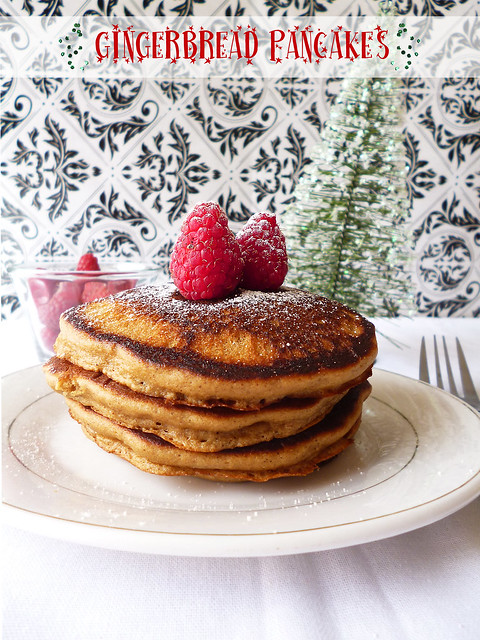 Raspberry Bloom: Gingerbread Pancakes