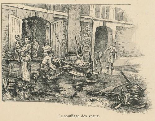 Paris 1893- abattoirs-marché s aux  bestiaux- ill o