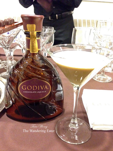Godiva Chocolate Liqueur and their Simple Chocolate Martini