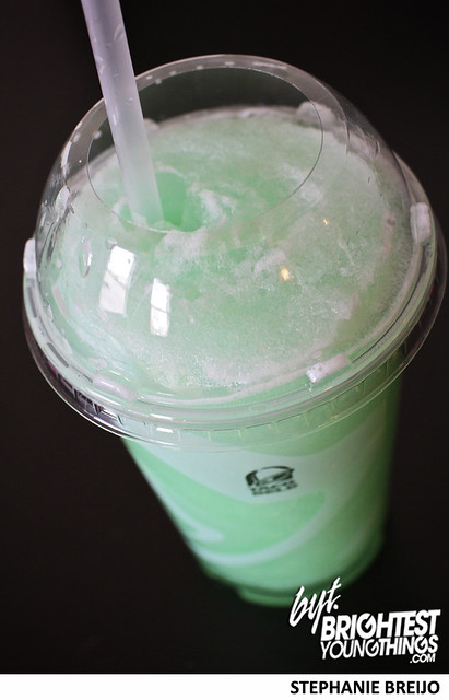 Taco Bell Stuft Nachos Taste Test MTN Dew Baja Blast Photos Brightest Young Things Stephanie Breijo7