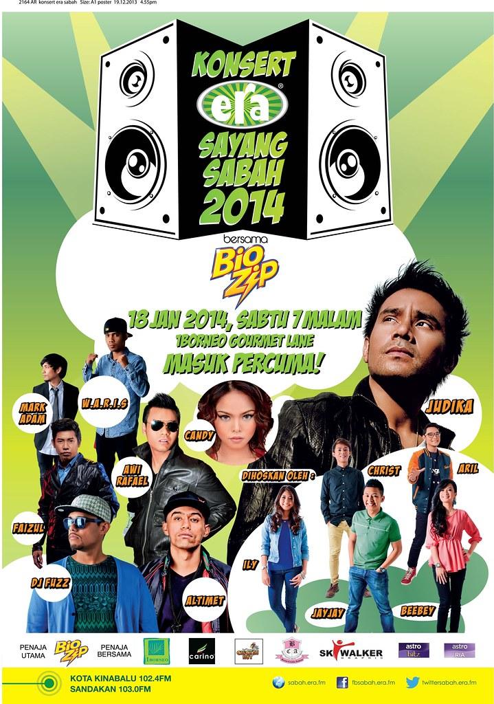 Konsert Era Fm Sayang Sabah Bersama Biozip