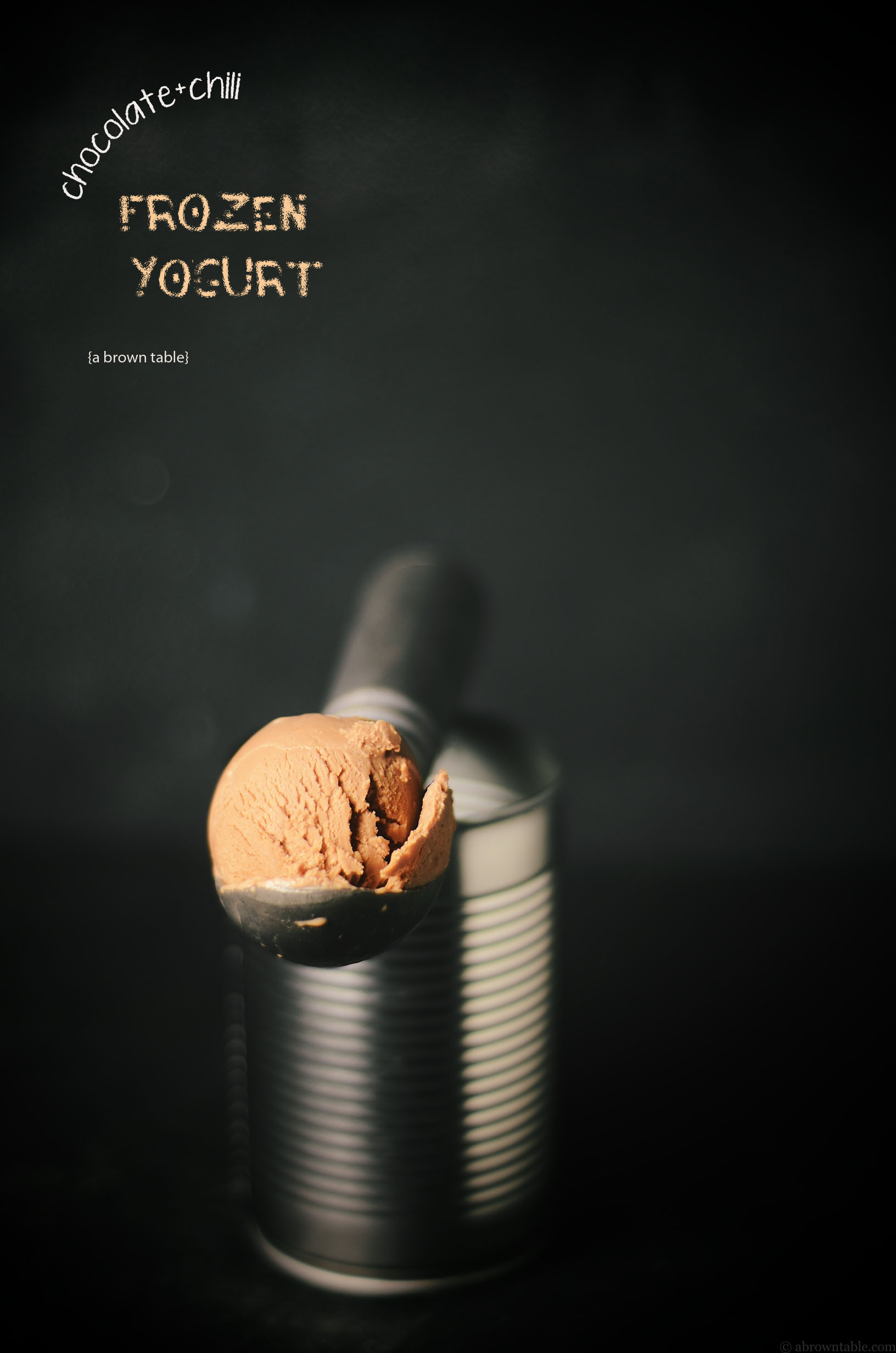 frozen chili chocolate yogurt