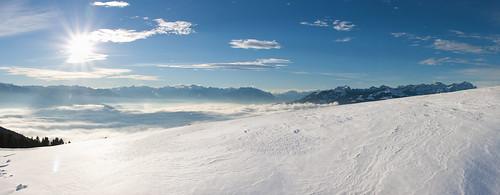 schnee schweiz ostschweiz berge rheintal stanton oberegg