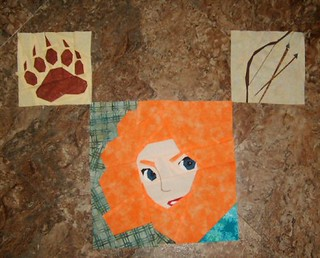 Princess 3 quilt block 2014 Merida 002